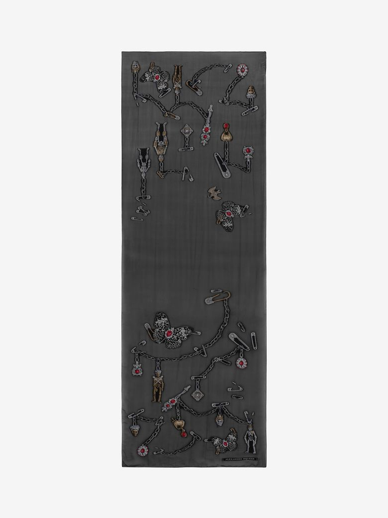 """""""QUEEN AND KING"""" SKELETON SCARF"""