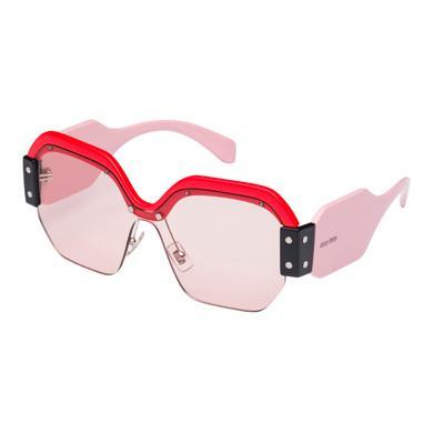 Miu Miu Sunglasses SINGLE LENS MIU MIU SORBET EYEWEAR