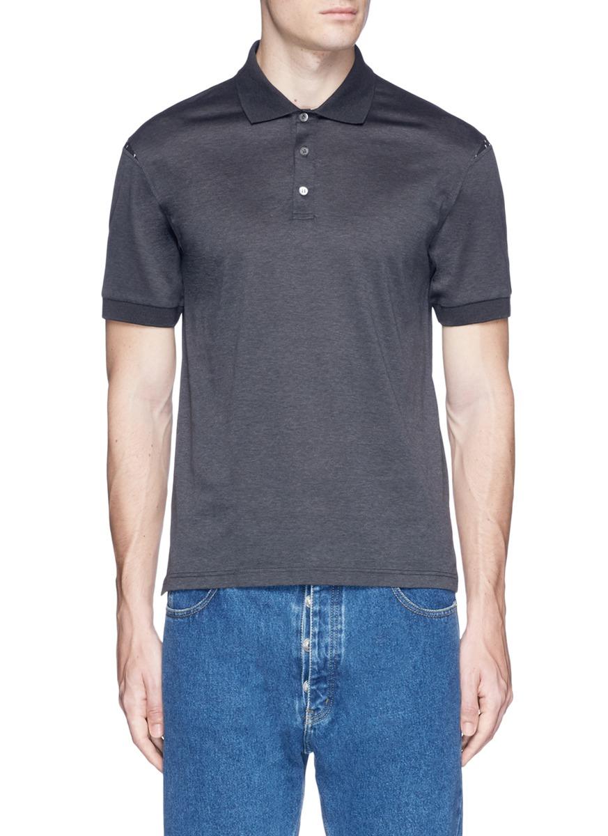 Alexander Mcqueen Cottons Skull shoulder panel polo shirt
