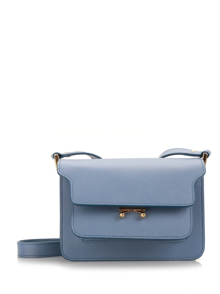 Marni Leathers Mini 'Trunk' saffiano bag