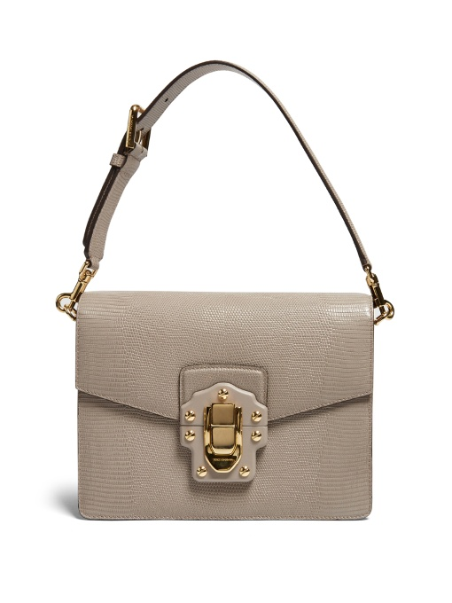 Dolce & Gabbana Leathers LUCIA LIZARD-EFFECT LEATHER SHOULDER BAG