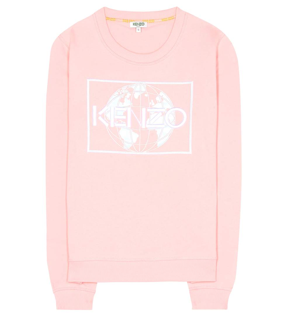 Kenzo Cottons Embroidered cotton sweatshirt