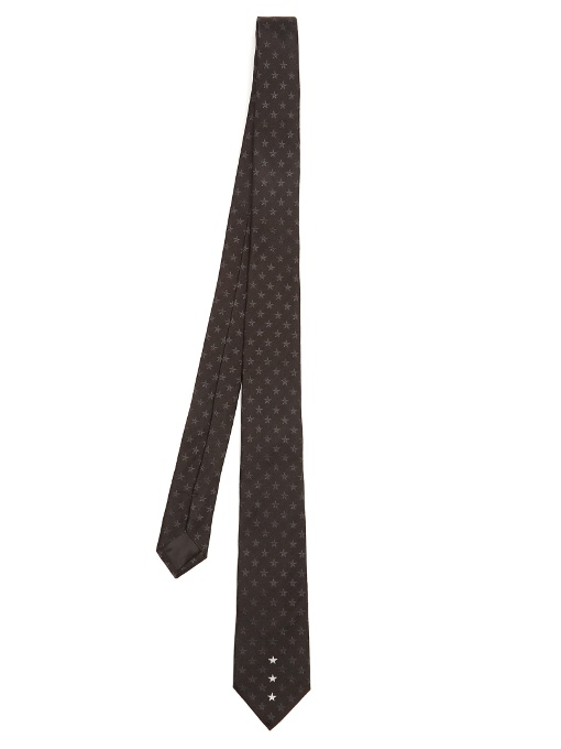 Givenchy Ties STAR-EMBROIDERED SILK TIE