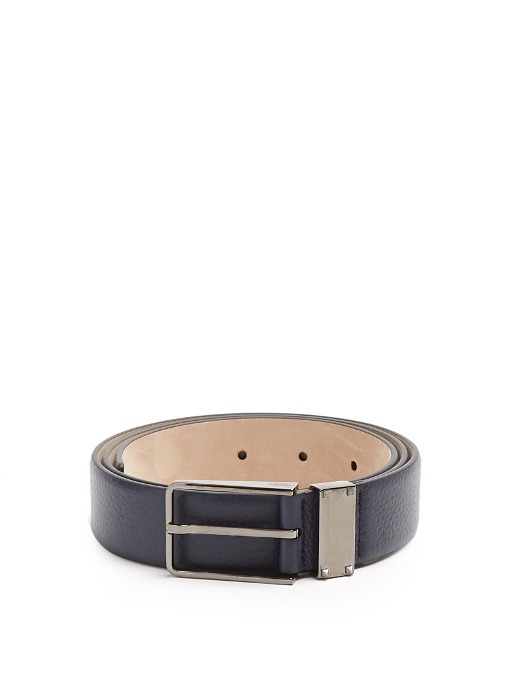 Valentino Belts Rockstud grained-leather belt