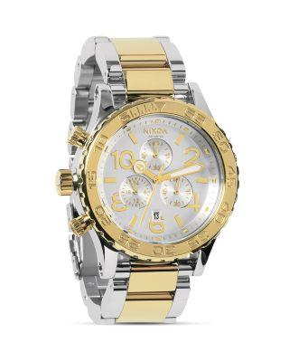 Nixon Watches THE 42-20 CHRONO TWO TONE WATCH, 42MM