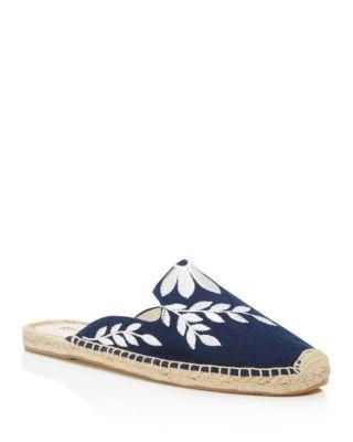 Soludos Canvases WOMEN'S EMBROIDERED ESPADRILLE MULES