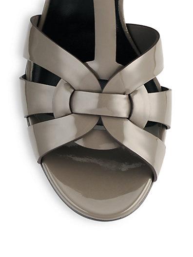 Patent Leather Tribute Platform Sandals