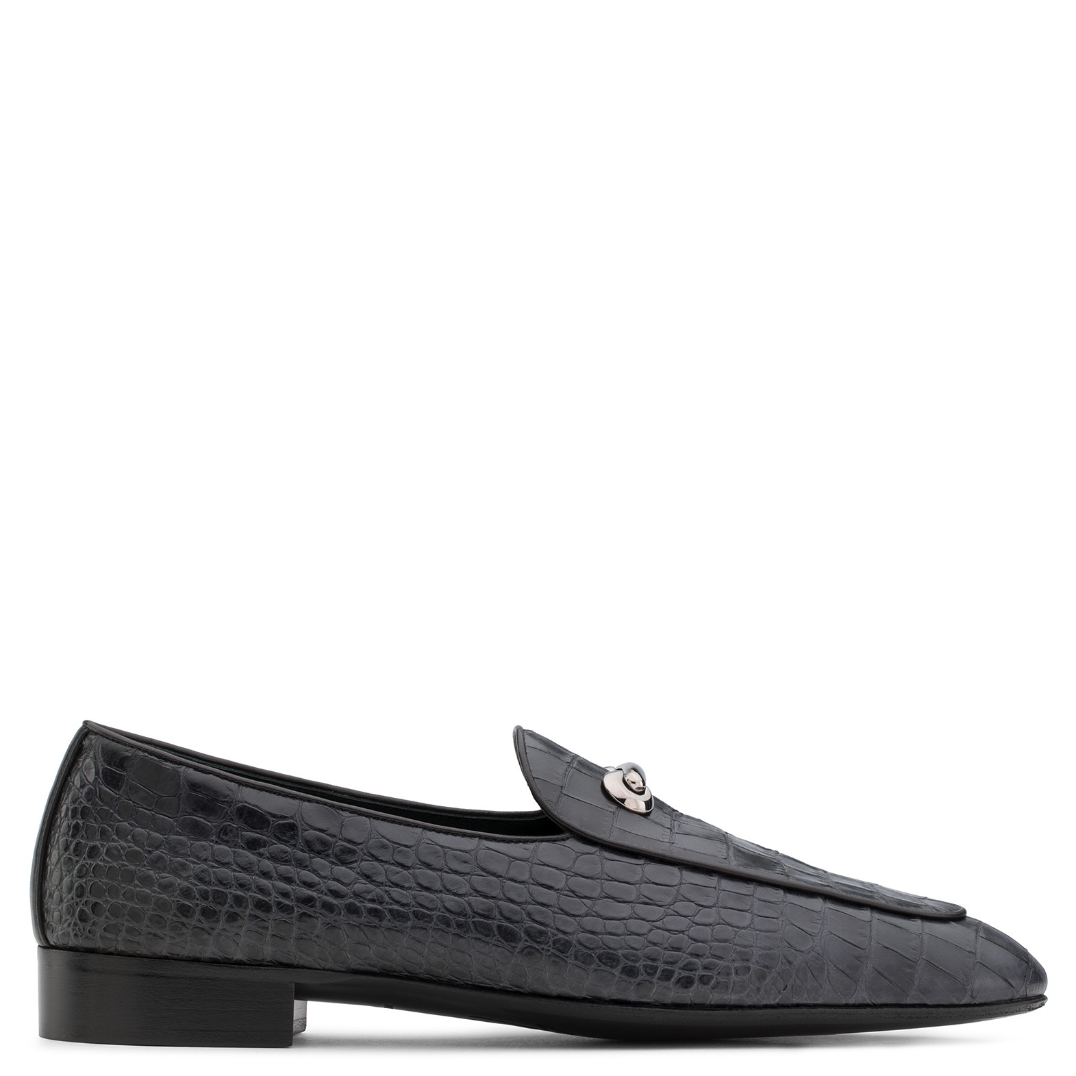 50e727ab7384 Giuseppe Zanotti Red crocodile-embossed calf leather loafer with metal  detail ARCHIBALD CROSS