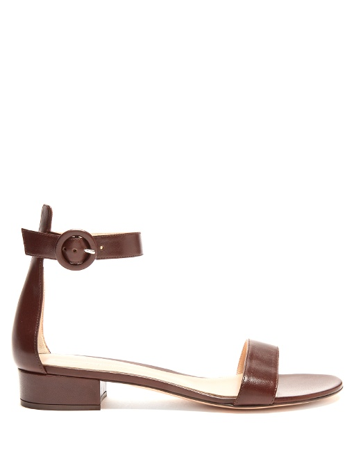 Portofino 20 leather block-heel sandals
