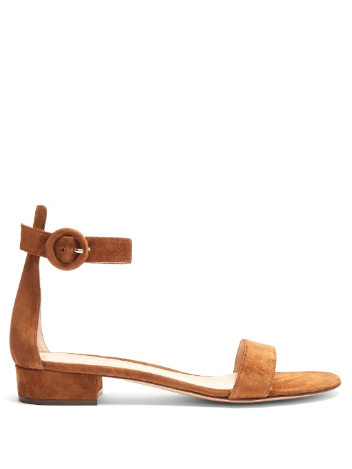 Portofino 20 block-heel leather sandals