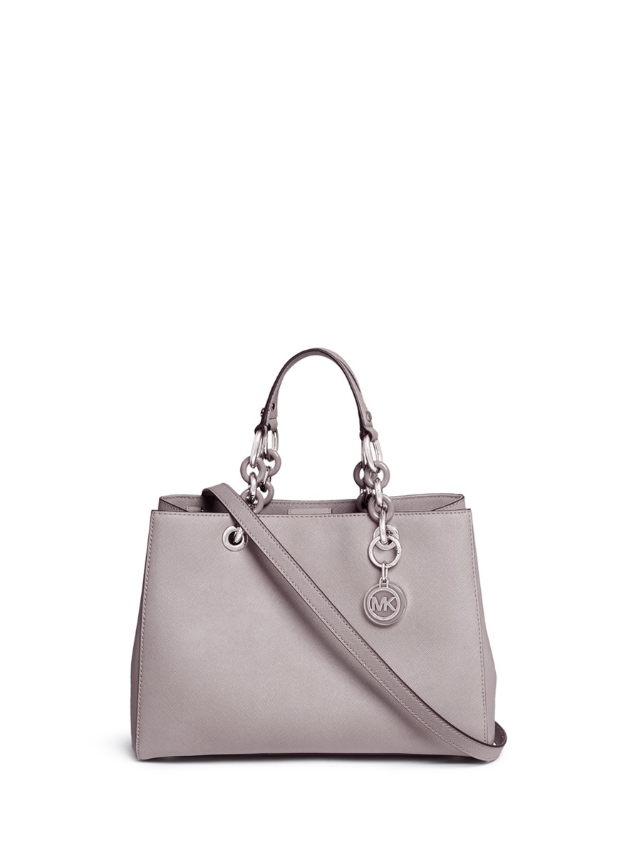 'Cynthia' medium saffiano leather satchel
