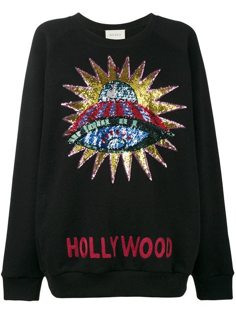 Hollywood sequin embellished Sweatshirt