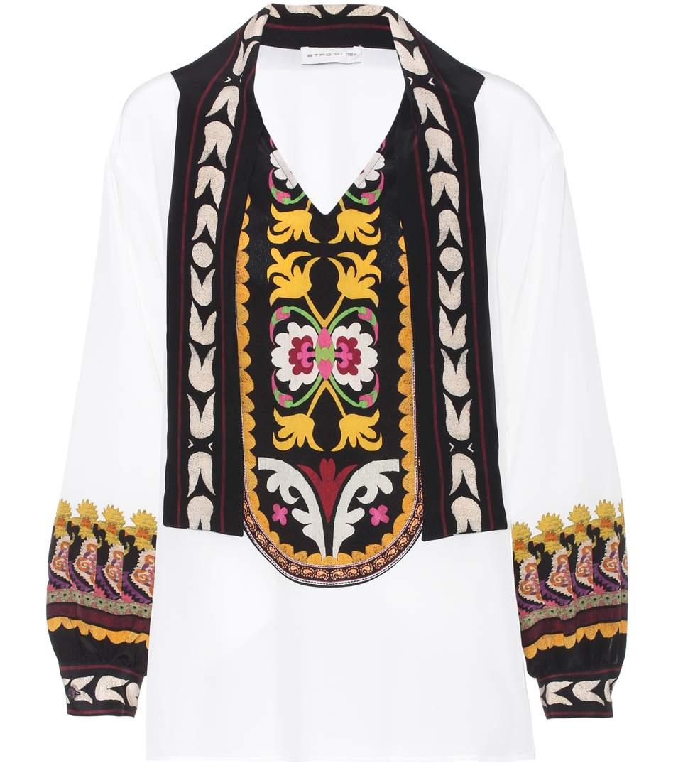 peasant printed blouse