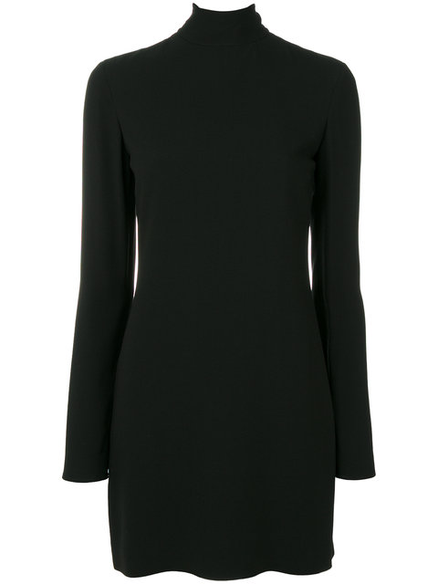 SAINT LAURENT OPEN-BACK TURTLENECK DRESS