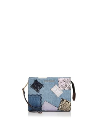 Denim Patchwork Clutch Pouch