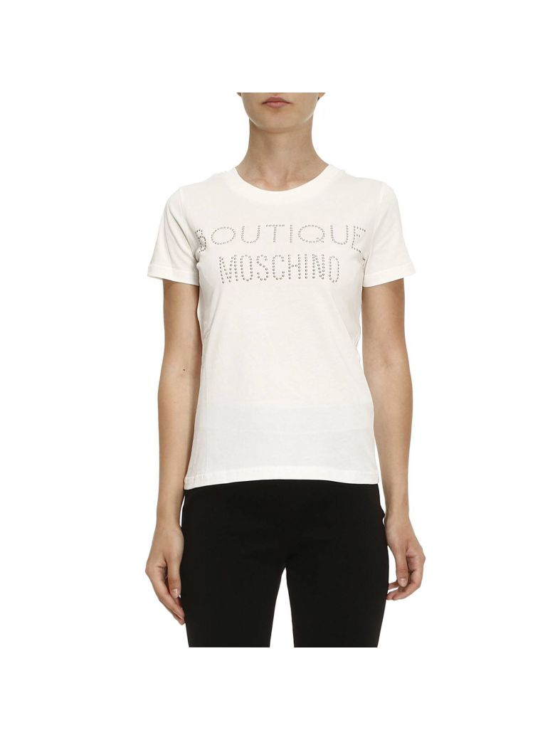 Boutique Moschino  T-shirt T-shirt With Maxi Logo With Metal Studs