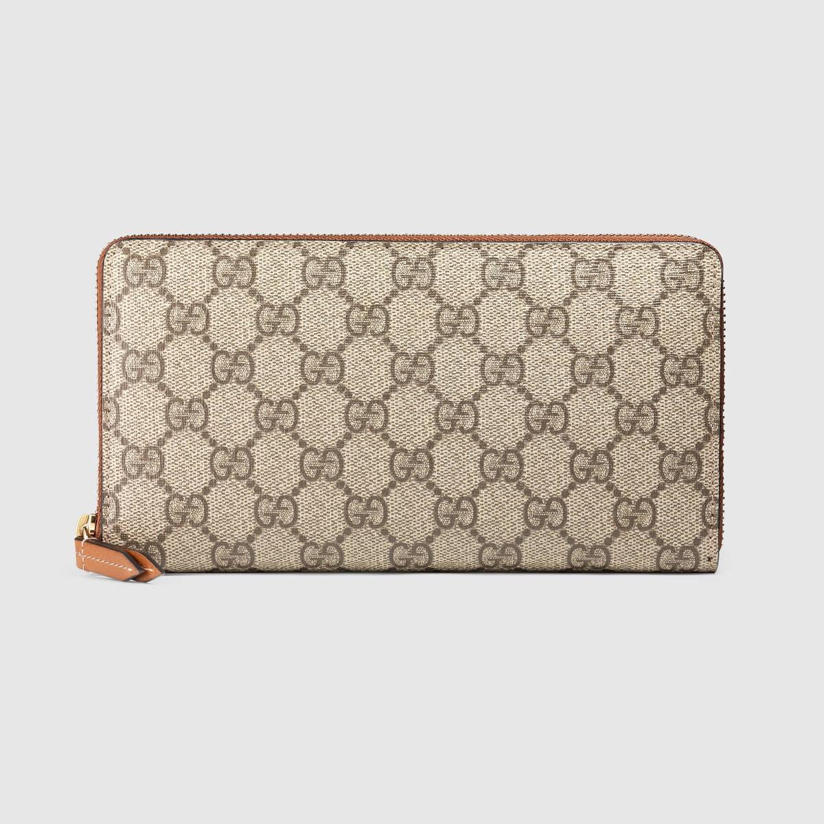 Gucci Wallets GG Supreme zip around wallet - GG Supreme canvas