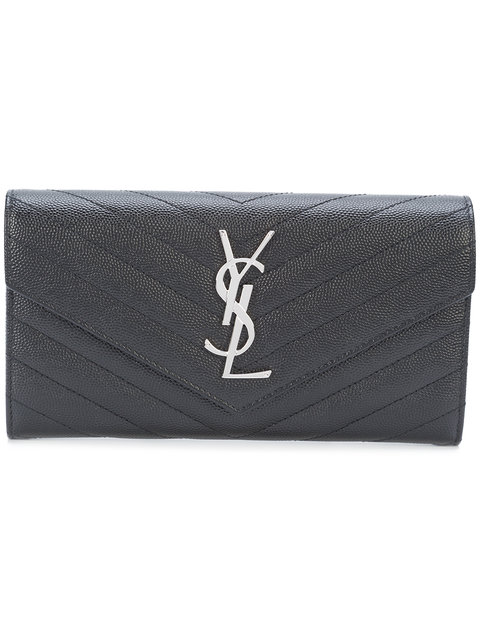 LARGE MONOGRAM SAINT LAURENT FLAP WALLET