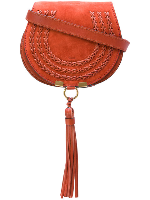 Red Suede Small Marcie Bag