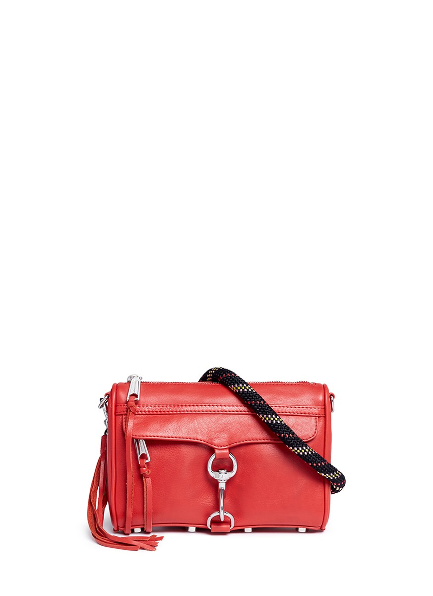 'M.A.C.' climbing rope strap mini leather crossbody bag