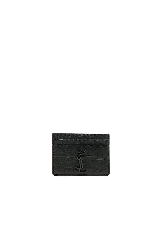 Monogram crocodile-effect leather cardholder