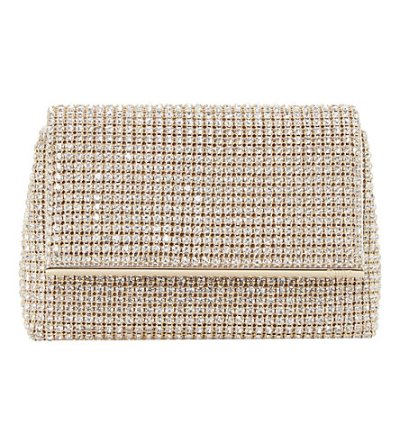 Everlina diamante-embellished clutch bag