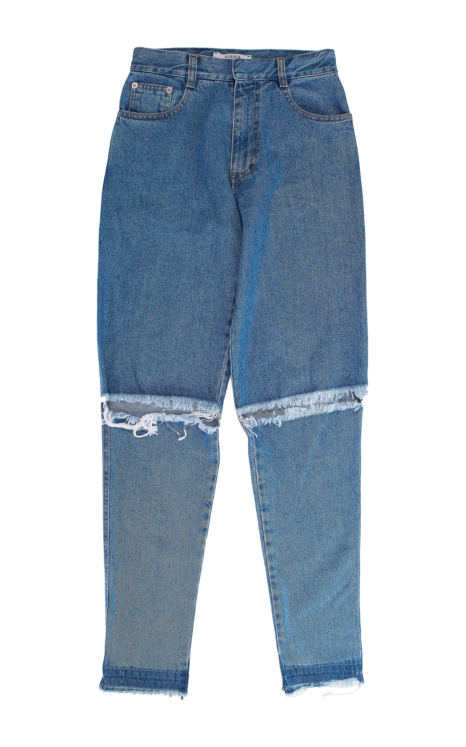 KSENIA SCHNAIDER Demi-Denims wide high-rise jeans