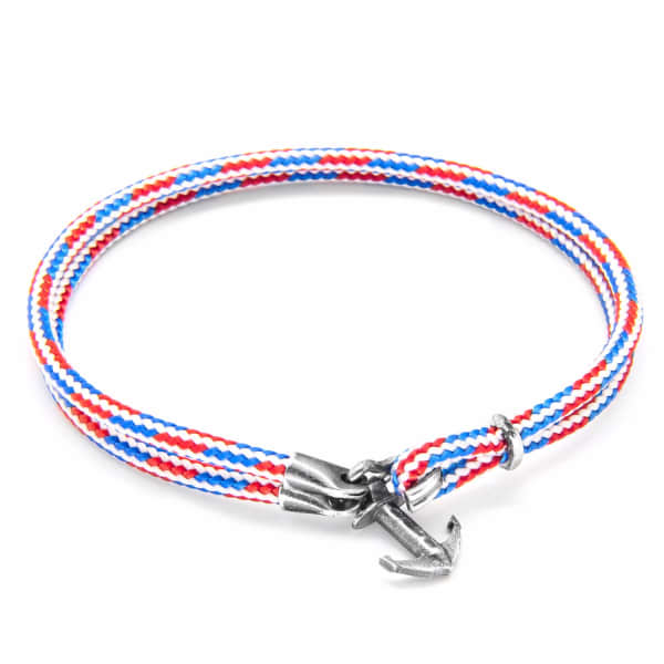 Project-Rwb Red White & Blue Brighton Silver & Rope Bracelet
