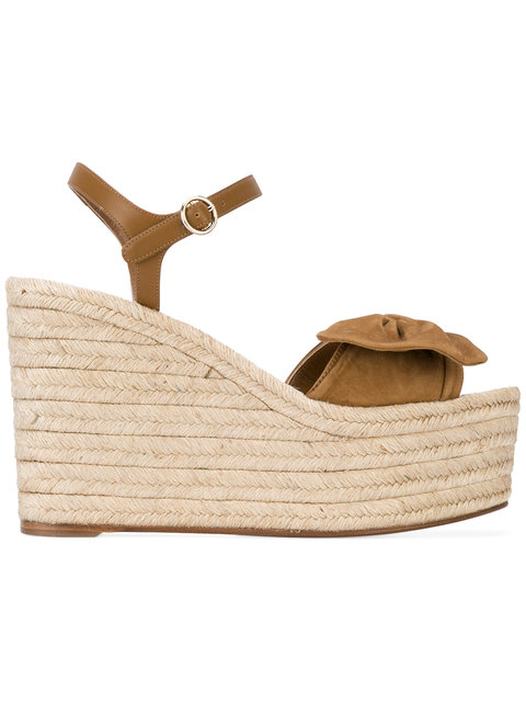 Valentino Suedes Valentino Garavani Tropical Bow espadrilles sandals