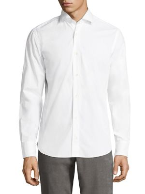 Eleventy Cottons Regular-Fit Cotton Shirt