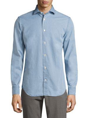 Eleventy Cottons Cotton Chambray Shirt