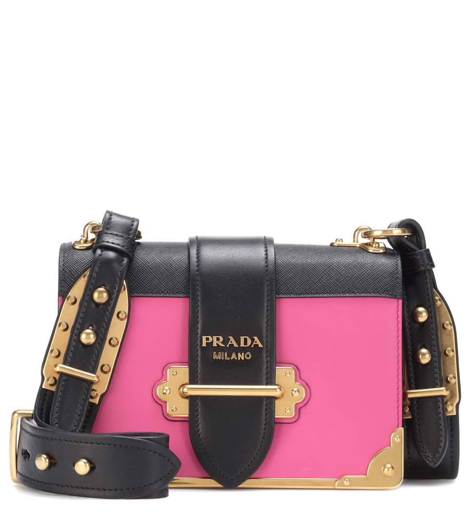 d1dabffafb5e Prada Cahier Two-tone Leather Shoulder Bag   Stanford Center for ...