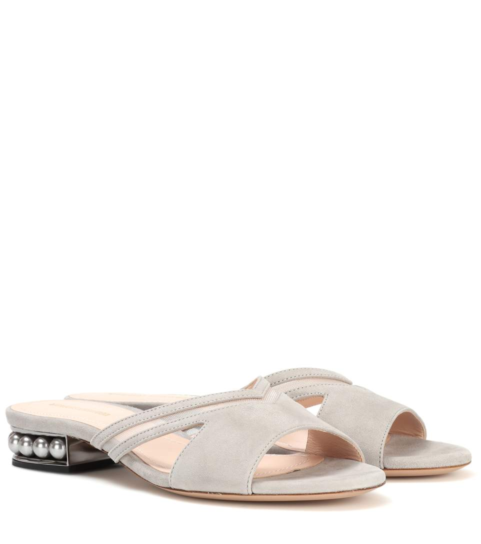 CASATI MULE SUEDE SLIP-ON SANDALS