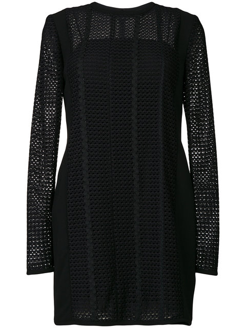 panelled shift dress