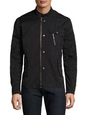 John Varvatos Cottons Bomber Zip and Snap Front Jacket