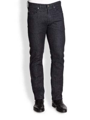 AG Matchbox Slim-Straight Jeans in Heat
