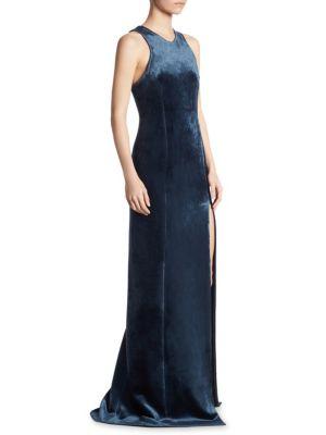 Racerback Fitted Velvet Gown