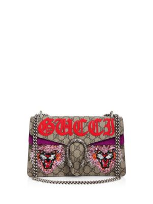 Dionysus Embroidered GG Supreme Shoulder Bag