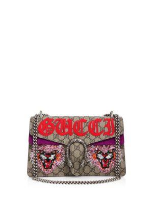 Dionysus Embroidered GG Supreme Shoulder Bag