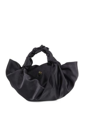 Small Ascot Knotted Satin Tote