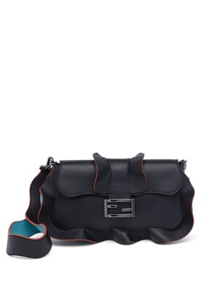 Fendi Shoulder bags Ruffled Leather Satchel