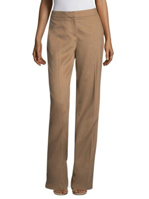 HIGH-WAIST WIDE-LEG CAMEL HAIR PANTS