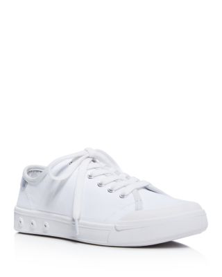 WOMAN STANDARD ISSUE PERFORATED LEATHER SNEAKERS WHITE