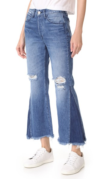 HIGHER GROUND GUSSET CROPPED JEANS