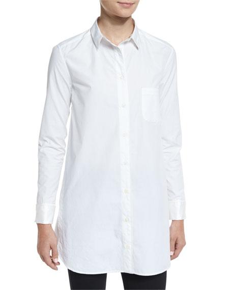 RAG & BONE Kingsley Long-Sleeve Cotton Shirt, Bright White