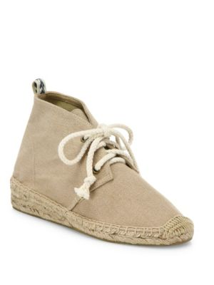 Soludos Canvases Demi-Wedge Canvas Espadrille Desert Booties
