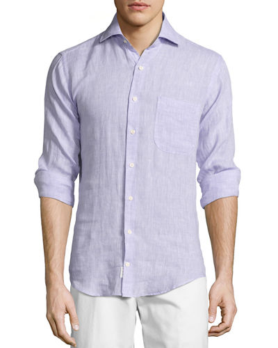peter millar crown cool linen sport shirt lilac modesens