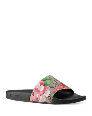 WOMEN'S SLIPPERS SANDALS  ST. BLOOMS PLACE FLOWERS GG SUPREME