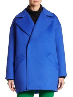 Oscar De La Renta Wools Dropped Shoulder Coat