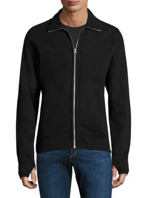 Rag & Bone Cottons Trooper Zip Up Sweatshirt